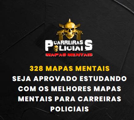 mapas mentais carreiras policiais